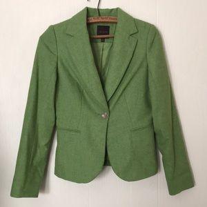 Green Wool Blend Blazer Size XS